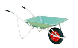 【運搬作業用品-一輪車】ハラックス アルミ一輪車 プラバケット付 CF-2N ノーパンクタイヤ <大型・重量商品>