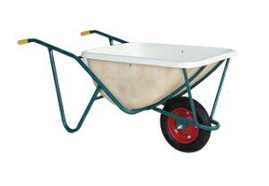 【運搬作業用品-一輪車】ハラックス スチール一輪車 FRP製深型バケットタイプ SSN-110 エアータイヤ <大型・重量商品>