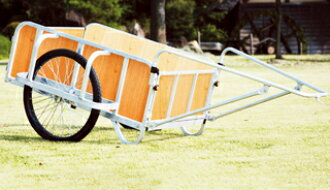 Large bicycle-drawn cart (strong model) BS-2000GN no flat tire (with a plywood panel) made of ハラックス ring Taro aluminum <large size, weight product>