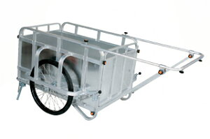 【運搬作業用品-リヤカー】ハラックス コンパック アルミ製折り畳み式リヤカー対荷重350kgタイプ HC-3500N ノーパンクタイヤ <大型・重量商品>