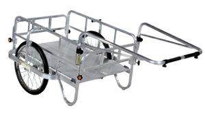 【運搬作業用品-リヤカー】ハラックス コンパック アルミ製折り畳み式リヤカー HC-906N ノーパンクタイヤ <大型・重量商品>
