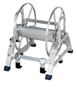 【散水作業用品-ホースリール】ハラックス マキ太郎 アルミ製ホース巻取器(8.5mm動噴ホース用)フック式 DR-150F <大型・重量商品>