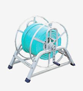 【散水作業用品-ホースリール】ハラックス マキ太郎 アルミ製ホース巻取器(8.5mm動噴ホース用) DR-100 <大型・重量商品>