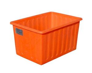 【貯水タンク-大型容器】モリマーサム樹脂 OPEN 角型容器 500L オレンジ SPE-500 <大型・重量商品>