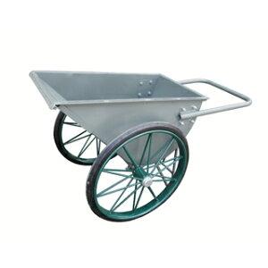 【運搬作業用品-一輪車】4才カート車 鉄スポーク車輪ノーパンクタイヤ <大型・重量商品>