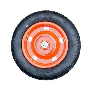 【運搬作業用品--台車部品・キャスター・車輪】一輪車ブレーキ付用車輪 空気入り車輪 <大型・重量商品>