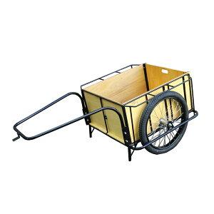 【運搬作業用品-リヤカー】大成車輌 4号リヤカー 5面板張り 空気入り車輪 <大型・重量商品>