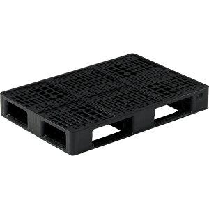 【運搬作業用品-パレット】サンコープラスチックパレット4方差し片面使用型D4-068100H <大型・重量商品>