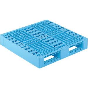 【運搬作業用品-パレット】サンコープラスチックパレット2方差し片面使用型D2-909 <大型・重量商品>