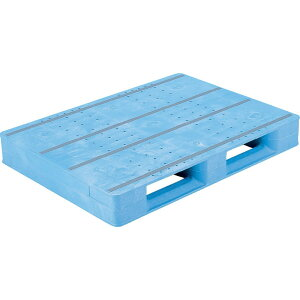 【運搬作業用品-パレット】サンコープラスチックパレット2方差し片面使用型D2-811F <大型・重量商品>