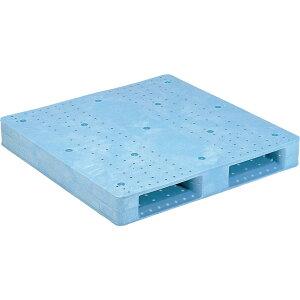 【運搬作業用品-パレット】サンコープラスチックパレット2方差し片面使用型D2-1010F <大型・重量商品>