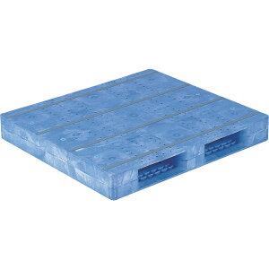 【運搬作業用品-パレット】サンコープラスチックパレット2方差し片面使用型D2-1011F <大型・重量商品>