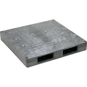 【運搬作業用品-パレット】サンコープラスチックパレット2方差し片面使用型D-1111F <大型・重量商品>