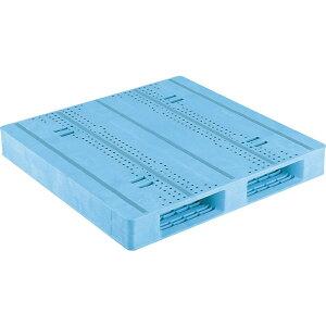 【運搬作業用品-パレット】サンコープラスチックパレット2方差し片面使用型D2-1111F-3 <大型・重量商品>