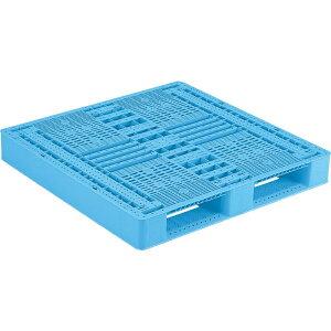 【運搬作業用品-パレット】サンコープラスチックパレット2方差し片面使用型D2-1111 <大型・重量商品>