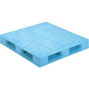 【運搬作業用品-パレット】サンコープラスチックパレット4方差し片面使用型D4-1111F-2 <大型・重量商品>
