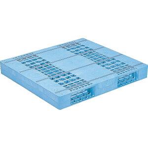 【運搬作業用品-パレット】サンコープラスチックパレット2方差し片面使用型D2-1112F <大型・重量商品>