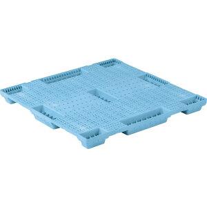 【運搬作業用品-パレット】サンコープラスチックパレット4方差し単面使用型SNパレットN4-114118F <大型・重量商品>