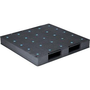 【運搬作業用品-パレット】サンコープラスチックパレット2方差し片面使用型D-1212-2 <大型・重量商品>