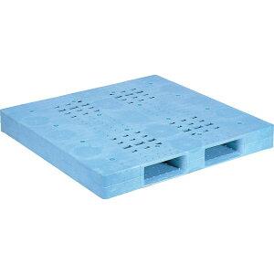 【運搬作業用品-パレット】サンコープラスチックパレット2方差し片面使用型D-1313F <大型・重量商品>