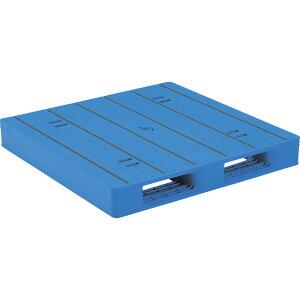 【運搬作業用品-パレット】サンコープラスチックパレット2方差し片面使用型LX-1111D2-4 <大型・重量商品>