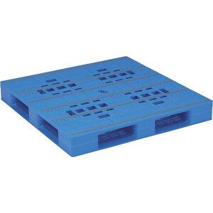 【運搬作業用品-パレット】サンコープラスチックパレット4方差し片面使用型LX-1212D4 <大型・重量商品>