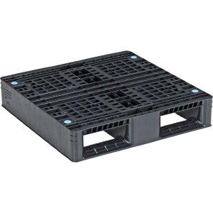 【運搬作業用品-パレット】サンコープラスチックパレット2方差し片面使用型D2-077077 <大型・重量商品>