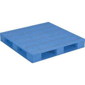 【運搬作業用品-パレット】サンコープラスチックパレット4方差し片面使用型LX-1111D4-4 <大型・重量商品>