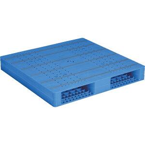 【運搬作業用品-パレット】サンコープラスチックパレット2方差し両面使用型LX-1111R2-8 <大型・重量商品>