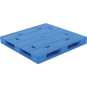 【運搬作業用品-パレット】サンコープラスチックパレット4方差し片面使用型LX-1111D4-5 <大型・重量商品>
