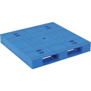 【運搬作業用品-パレット】サンコープラスチックパレット2方差し片面使用型LX-1111D2-2 <大型・重量商品>