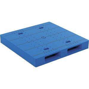 【運搬作業用品-パレット】サンコープラスチックパレット2方差し片面使用型LX-1111D2-6 <大型・重量商品>
