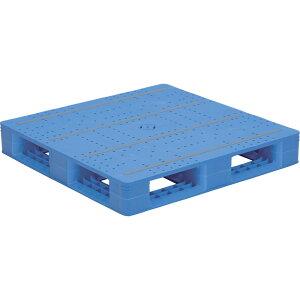 【運搬作業用品-パレット】サンコープラスチックパレット4方差し片面使用型LX-1010D4-2 <大型・重量商品>