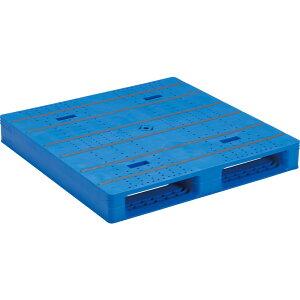 【運搬作業用品-パレット】サンコープラスチックパレット2方差し片面使用型LX-1111D2-5 <大型・重量商品>