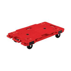 【運搬作業用品-コンパクト台車・平台車】サンコー サンキャリー6839(レッド) <大型・重量商品>