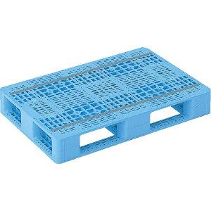 【運搬作業用品-パレット】サンコープラスチックパレット4方差し片面使用型D4-068100 <大型・重量商品>