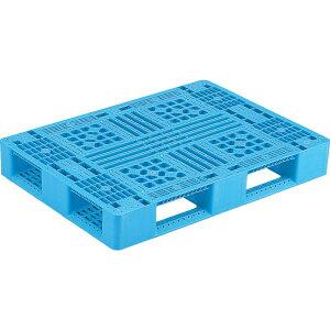 【運搬作業用品-パレット】サンコープラスチックパレット4方差し片面使用型D4-811 <大型・重量商品>