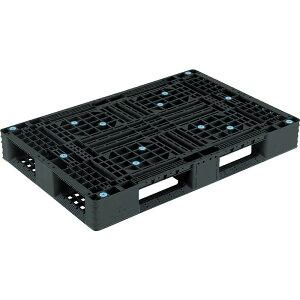 【運搬作業用品-パレット】サンコープラスチックパレット4方差し片面使用型D4-812 <大型・重量商品>