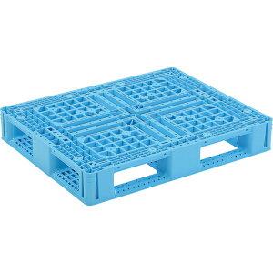 【運搬作業用品-パレット】サンコープラスチックパレット4方差し片面使用型D4-810-2 <大型・重量商品>