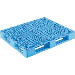【運搬作業用品-パレット】サンコープラスチックパレット4方差し片面使用型D4-097113 <大型・重量商品>