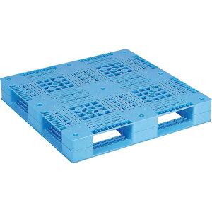 【運搬作業用品-パレット】サンコープラスチックパレット4方差し片面使用型D4-1010 <大型・重量商品>
