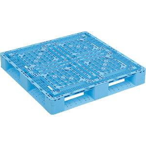 【運搬作業用品-パレット】サンコープラスチックパレット4方差し片面使用型D4-1010-2 <大型・重量商品>