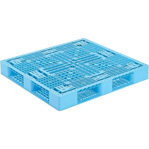 【運搬作業用品-パレット】サンコープラスチックパレット4方差し片面使用型D4-1112-2 <大型・重量商品>