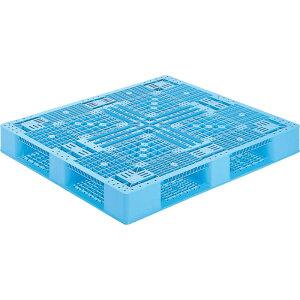 【運搬作業用品-パレット】サンコープラスチックパレット4方差し片面使用型D4-1113-2 <大型・重量商品>
