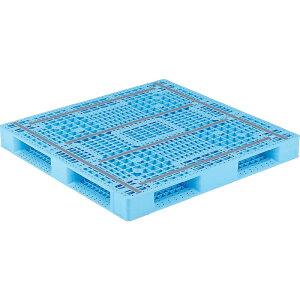 【運搬作業用品-パレット】サンコープラスチックパレット4方差し片面使用型D4-112116 <大型・重量商品>