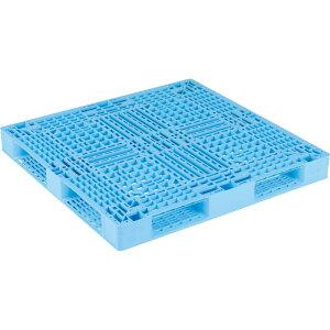 【運搬作業用品-パレット】サンコープラスチックパレット4方差し片面使用型D4-112116-2 <大型・重量商品>