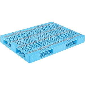 【運搬作業用品-パレット】サンコープラスチックパレット4方差し片面使用型D4-100134 <大型・重量商品>