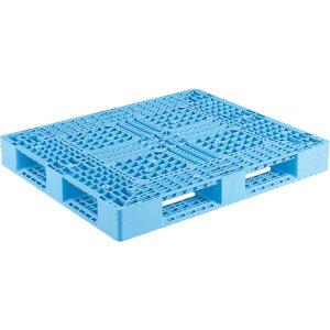 【運搬作業用品-パレット】サンコープラスチックパレット4方差し片面使用型D4-1113-3 <大型・重量商品>