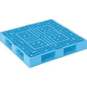 【運搬作業用品-パレット】サンコープラスチックパレット4方差し片面使用型D4-1212-2 <大型・重量商品>