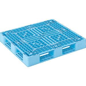 【運搬作業用品-パレット】サンコープラスチックパレット4方差し片面使用型D4-1112-3 <大型・重量商品>